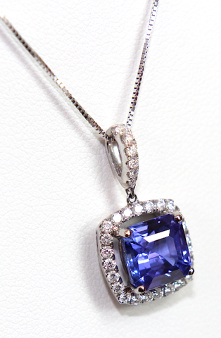 Campbell Fine Tanzanite & Diamond Pendant 3.39ct - Campbell Jewellers  - 1