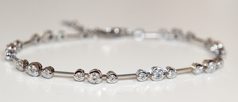 Campbell Fine Diamond Bar Bracelet 1.90ct - Campbell Jewellers  - 1
