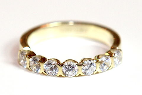 Semi Rubover Set Wedding & Eternity Ring 1.00ct - Campbell Jewellers  - 1