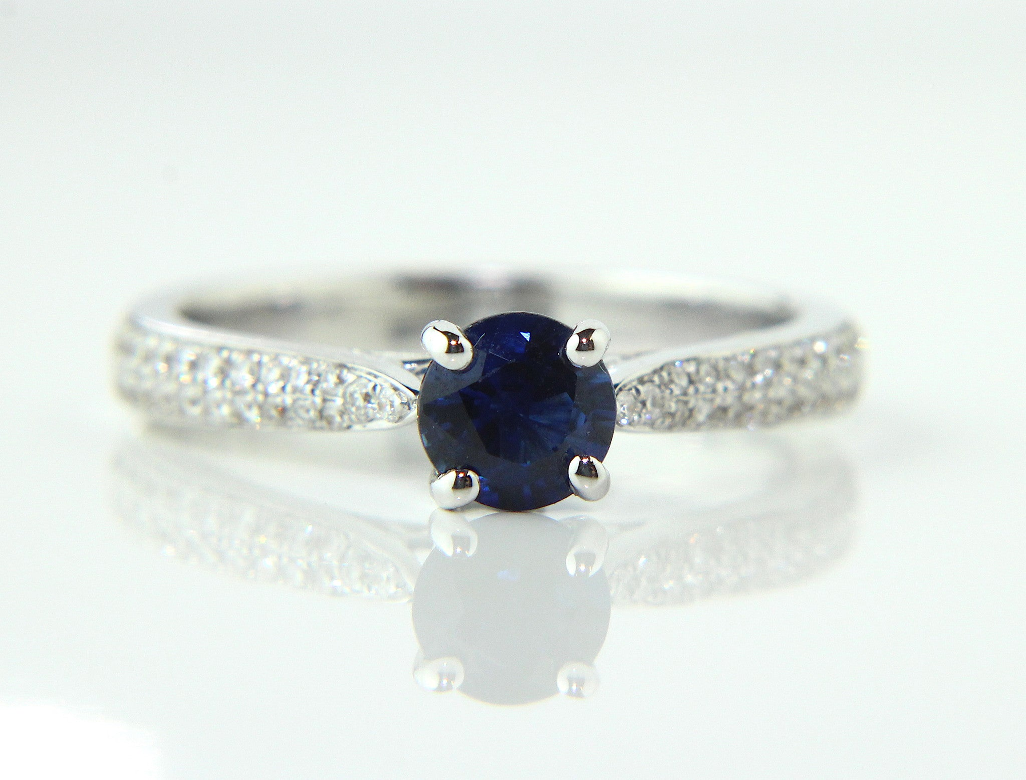 blue ring maniamania bluesapphire gold yellowgold solitaire belovedsolitairering side beloved products sapphire yellow darker midnight