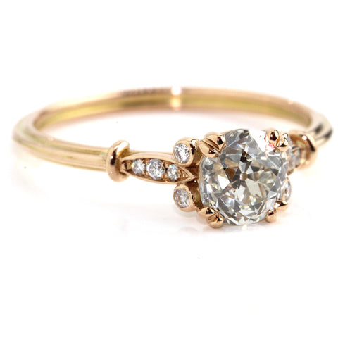 Rose Gold Old Mine Cut Diamond Ring Campbell Jewellers
