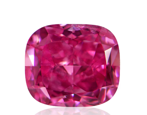 Campbell Jewellers 0.23ct Fancy Vivid Purplish Pink Cushion Shape GIA Certified Diamond