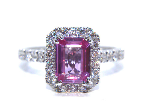 Campbell Jewellers 18ct White Gold Pink Sapphire & Diamond Ring 2.08ct