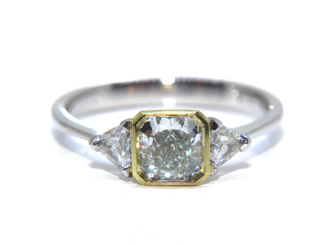 Green Diamond Engagement Ring | Campbell Jewellers