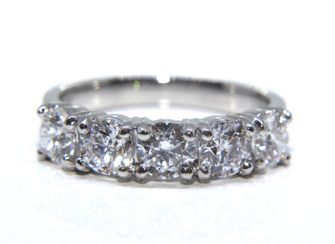 Platinum Round Brilliant Diamond Eternity Ring 2.04ct | Campbell Jewellers