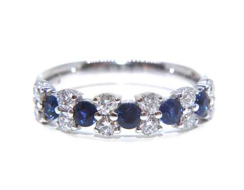 Platinum Blue Sapphire & Diamond Eternity Ring 1.20ct | Campbell Jewellers