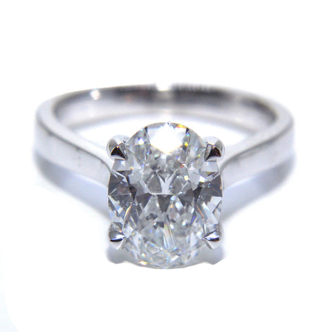 Platinum Eagle Claw Oval Solitaire 2.12ct | Campbell Jewellers