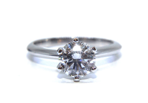 Platinum Six Claw Round Brilliant Diamond Engagement Ring 1.20ct - Campbell Jewellers