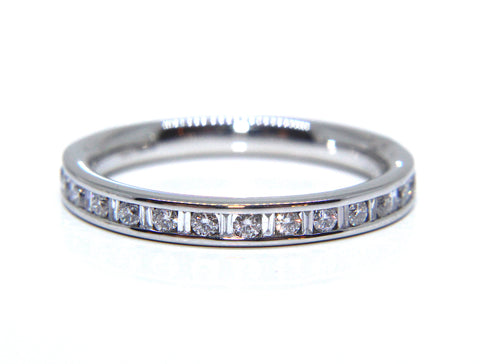 Platinum Round & Baguette Diamond Wedding/Eternity Ring 0.30ct - Campbell Jewellers