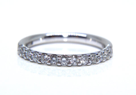 Platinum Round Brilliant Diamond Eternity Ring 0.50ct - Campbell Jewellers
