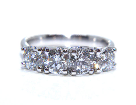 Platinum Four Diamond Engagement/Eternity Ring 2.01ct - Campbell Jewellers
