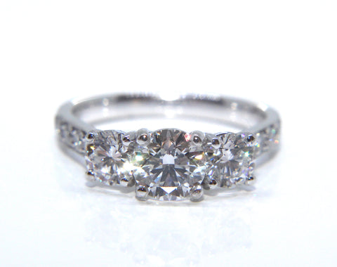 Platinum Trilogy Diamond Engagement Ring | Campbell Jewellers