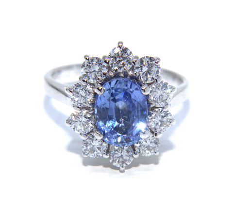 18ct White Gold Sapphire & Diamond Ring | Campbell Jewellers