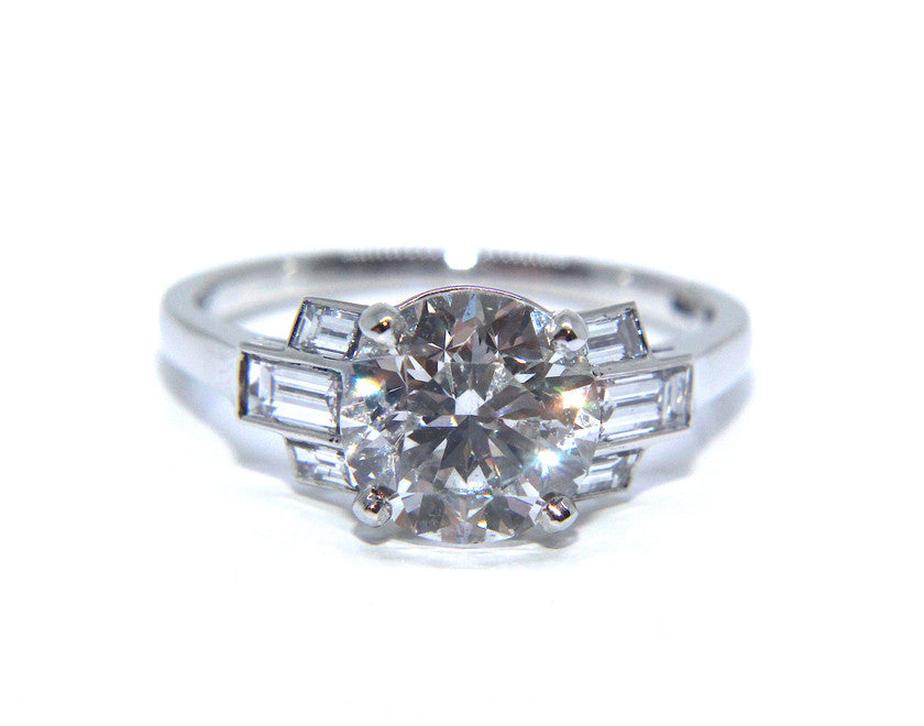 Bespoke Platinum Deco Ring