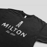 Town of Milton t-shirt for men view from side.