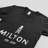 Town of Milton t-shirt for women view from side