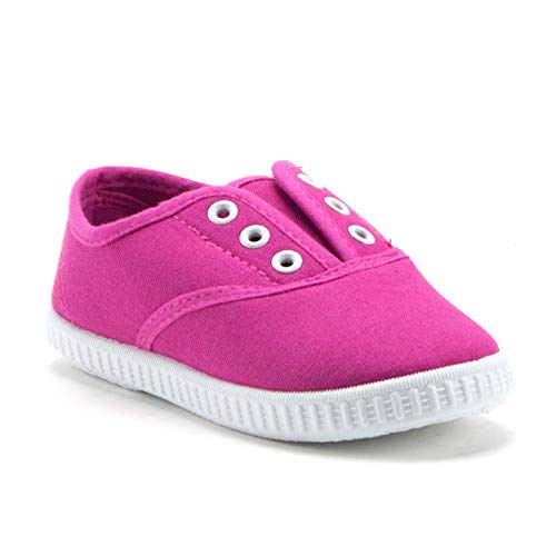 Girls 826 Toddlers Canvas Slip On Laceless Sneakers Shoes - Jazame, Inc.