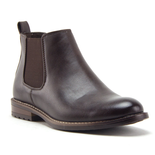 Men's Hank Ankle High Slip On Distressed Chelsea Dress Boots - Jazame, Inc.