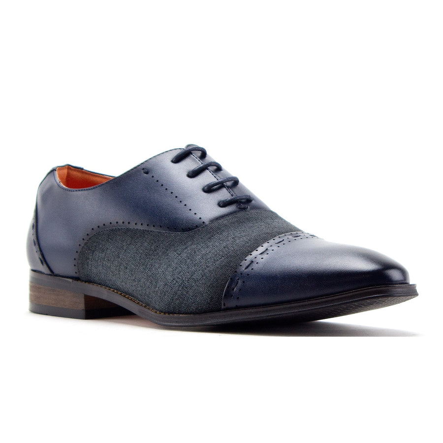 Men's C-471 Baker Derby Cap Toe Lace Up Combined Dress Shoes - Jazame, Inc.