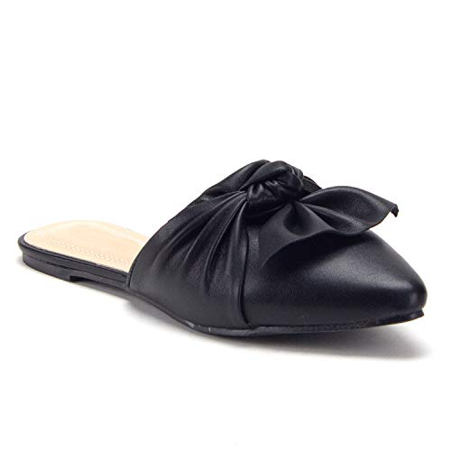 Women's Luxury Slip On Mule Dress Flat Shoes - Jazame, Inc.