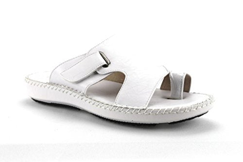 Men's 71205 Leather Linning Peasant Toe Slip On Sandals - Jazame, Inc.