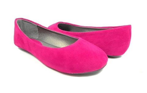 Women's Ositos Slip On Suedette Round Toe Flat Shoes 1001-11W Fuchsia