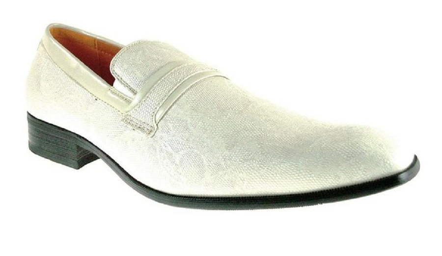 Mens Ferro Aldo Faux Snake Skin Slip On Loafers Shoes 109177 Beige-238 - Jazame, Inc.