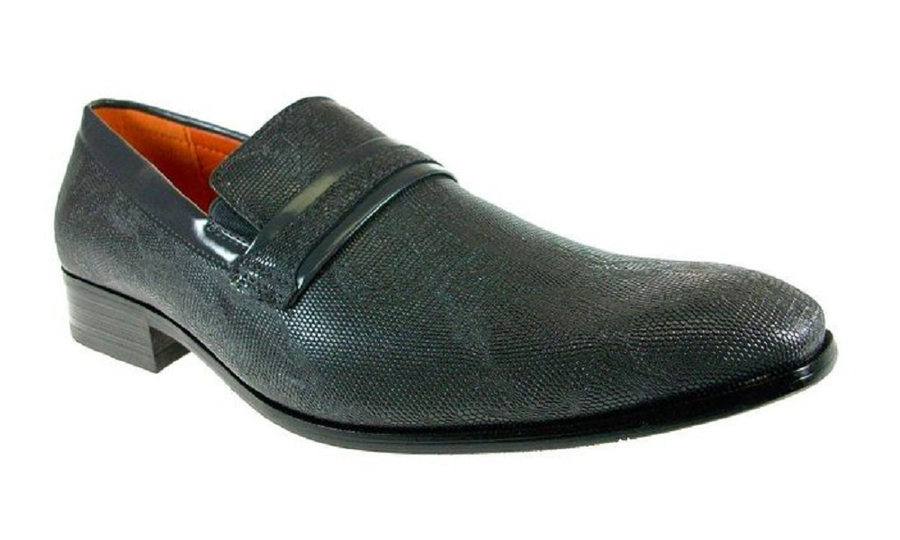Mens Ferro Aldo Faux Snake Skin Slip On Loafers Shoes 109177 Grey-235 - Jazame, Inc.