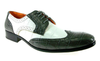 Mens Ferro Aldo Wing Tip Two Tone Dress Oxfords Shoes 109185 Gray-267 - Jazame, Inc.