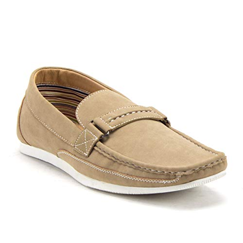 Men's 41296 Carlos Slip On Driver Loafers Driving Moccasin Flats Shoes - Jazame, Inc.