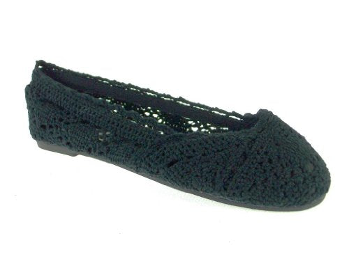 Girls 816 Crochet Slip On Flat Shoes - Jazame, Inc.