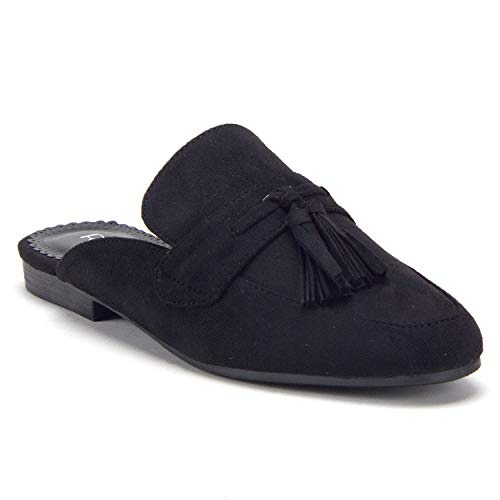 Women's Lux Tassel Slip On Loafers Flats Mule Shoes - Jazame, Inc.