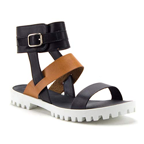 Women's Cooper-06 Platform Lug Sole Strappy Gladiator Sandals