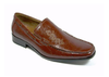 Mens Delli Aldo Dragon Design Slip On Loafers Shoes 18386 Brown-95 - Jazame, Inc.