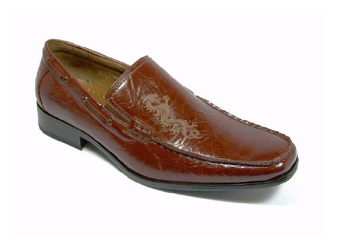 Mens Delli Aldo Dragon Design Slip On Loafers Shoes 18386 Brown-95