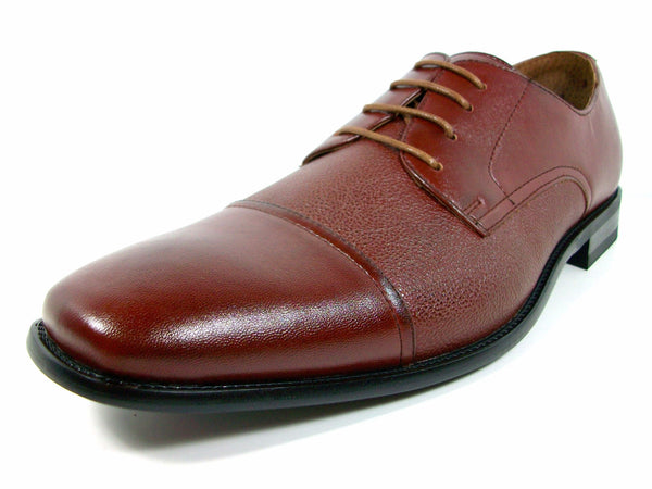 Delli Aldo Men's 19235 Classic Cap Toe Lace Up Oxfords Shoes - Jazame, Inc.