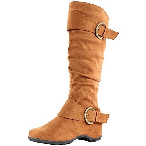 Women's Dhaka Buckle Design Ridding Boots - Jazame, Inc.