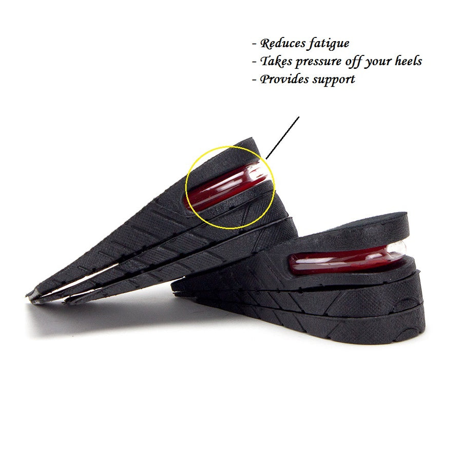 "Mens & Womens Height Increasing Insoles 3-Layer Air up Shoe Lifts Elevator Shoes Insole Lift Kit 2.25"" - Jazame, Inc."