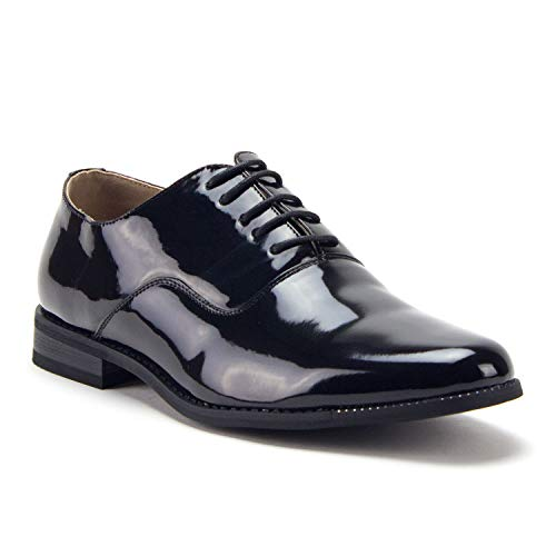 Men's 86214 Classic Black Patent Leather Formal Oxfords Dress Shoes - Jazame, Inc.