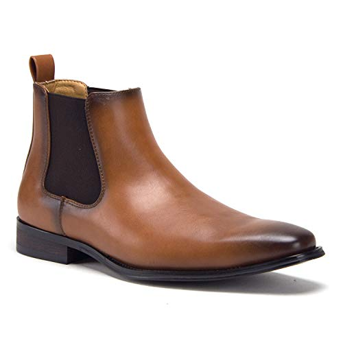 Men's E-621 Ankle High Slip On Chelsea Fashion Dress Boots - Jazame, Inc.