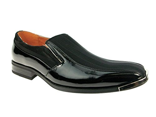 New Men's 129206 Patent Leather Pin Striped Loafer Dress Shoes - Jazame, Inc.