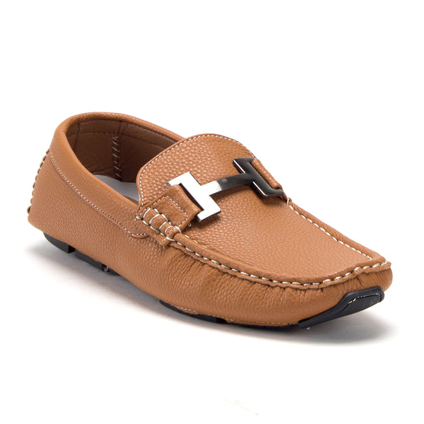 Men's Casual Slip On H Buckle Driving Mocs Smoking Flats Shoes - Jazame, Inc.