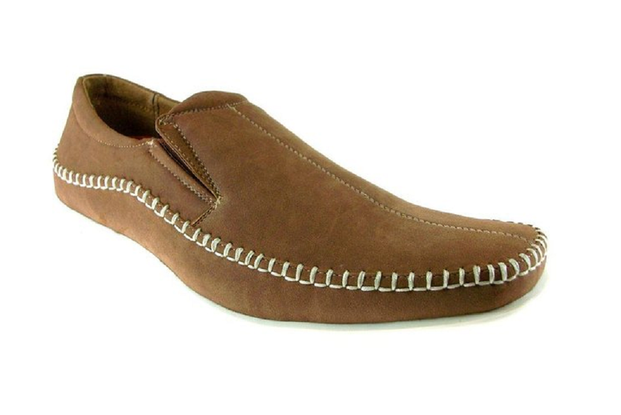 Mens Delli Aldo Comfort Mocassin Casual Loafers Shoes 30109 Brown-119 - Jazame, Inc.