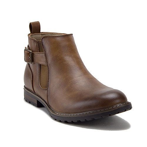 Men's 17821 Moto Riding Ankle Bootie Chelsea Dress Boots - Jazame, Inc.
