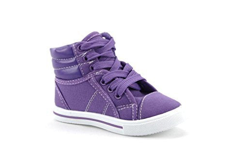 Kids 8081-K Canvas High Top Lace Up Fashion Sneakers - Jazame, Inc.