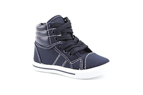 Kids 8081-I Toddlers Canvas High Top Lace Up Fashion Sneakers - Jazame, Inc.