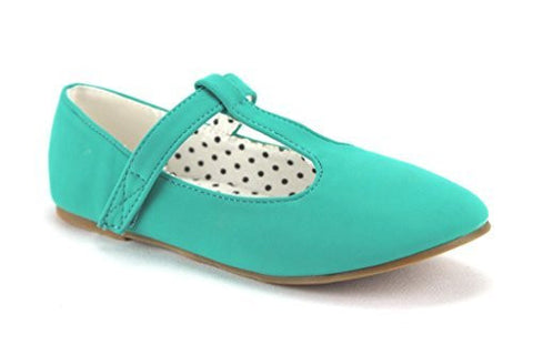 QQ Girls Kids Lovely-604 Smoking T-Strap Mary Jane Flats