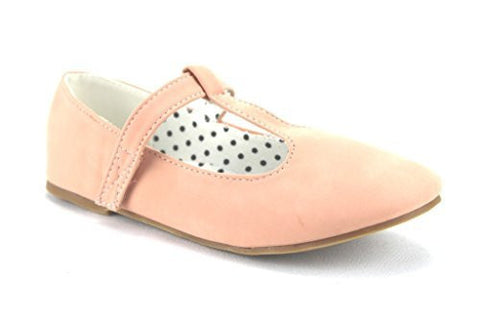 QQ Girls Kids Lovely-604 Smoking T-Strap Mary Jane Flats - Jazame, Inc.
