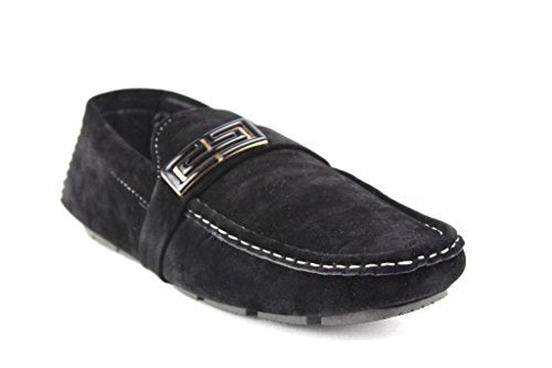 Men's M1040-12 Suedette Moccasin Slip On Loafer Driving Shoes - Jazame, Inc.