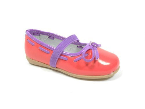 Girls FK-01 Toddlers Patent Bow Mary Jane Flats Shoes - Jazame, Inc.